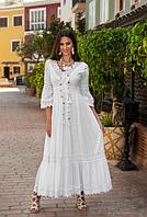 Шикарне плаття з бавовняним мереживом преміум якість