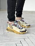 Мужские кроссовки Nike 270 React беж, фото 4