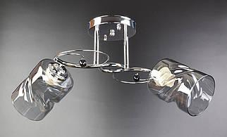 Люстра стельова на 2 лампочки 7290/2A-ch Хром 24х22х50 див.