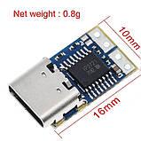Для паяльників TS100 , SH72 , SQ-D60 , SQ001 ,T12 тригер модуль живлення Type-C PD3.0 у 20V 5A, фото 2