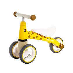 Детский трёхколёсный беговел POPPET «Жираф Лори», желто-коричневый