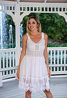 Дивовижне коротке плаття сарафан з бавовняного мережива преміум якість