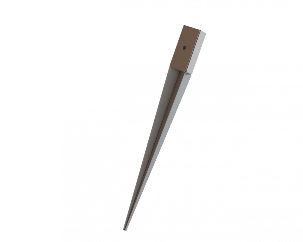 Консоль колони 50*800мм тип забивний (опора для балки) . ТМ Кольчуга (Kolchuga)