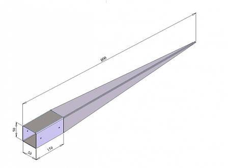 Консоль колони 50*800мм тип забивний (опора для балки) . ТМ Кольчуга (Kolchuga), фото 2