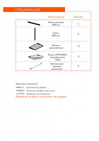 Гардеробная система BLACK Edition Кольчуга Система хранения (консоль, стеллаж), фото 2