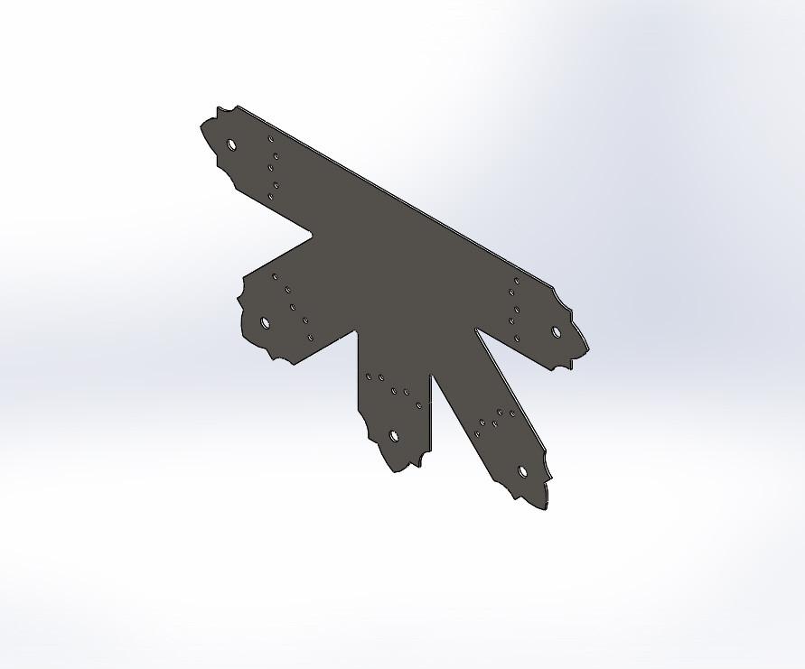 Декоративний 5-ти променевий перфорований з'єднувач 430х260х80х1.8. ТМ Кольчуга (Kolchuga)