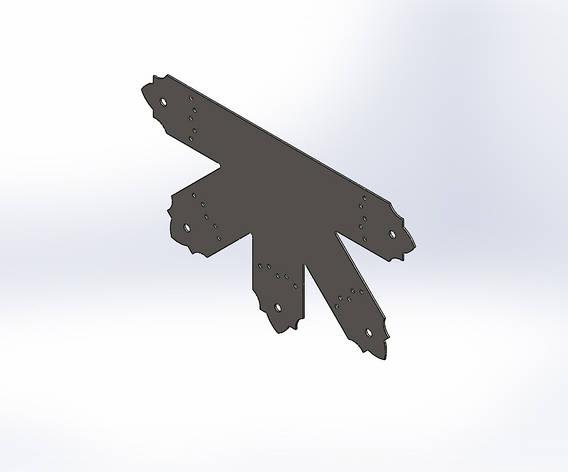 Декоративний 5-ти променевий перфорований з'єднувач 430х260х80х1.8. ТМ Кольчуга (Kolchuga), фото 2