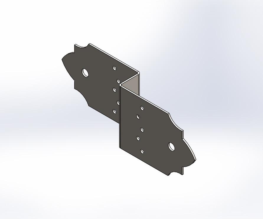 Декоративний Z-подібний з'єднувач (перфорований кріплення) 260х80х1.8. ТМ Кольчуга (Kolchuga)