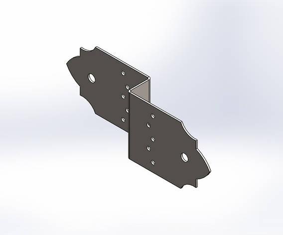 Декоративний Z-подібний з'єднувач (перфорований кріплення) 260х80х1.8. ТМ Кольчуга (Kolchuga), фото 2