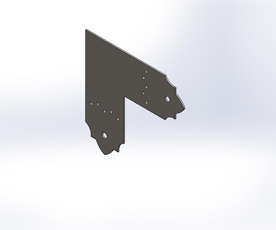 Декоративний плоский куточок (перфороване кріплення) 205х80х1.8. ТМ Кольчуга (Kolchuga)