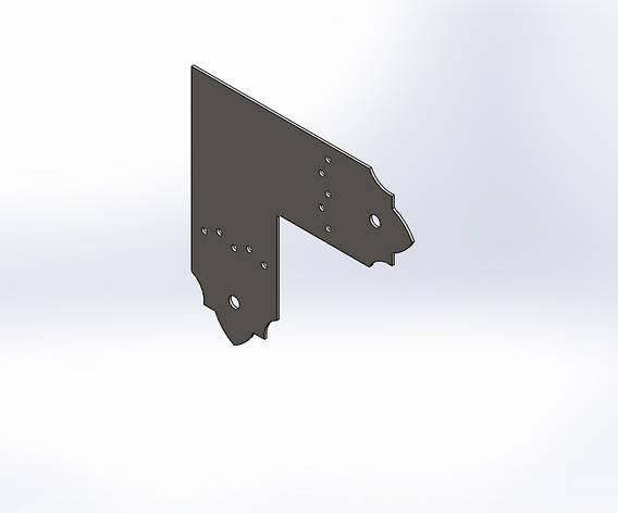 Декоративний плоский куточок (перфороване кріплення) 205х80х1.8. ТМ Кольчуга (Kolchuga), фото 2