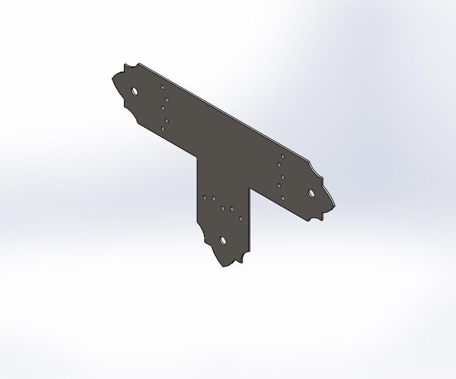 Декоративний Т-подібний перфорований з'єднувач 350х80х80х1.8. ТМ Кольчуга (Kolchuga)