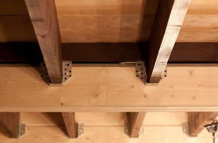 Консоль колони (перфорована опора для бруса) 90х145х70х2. ТМ Кольчуга (Kolchuga), фото 2