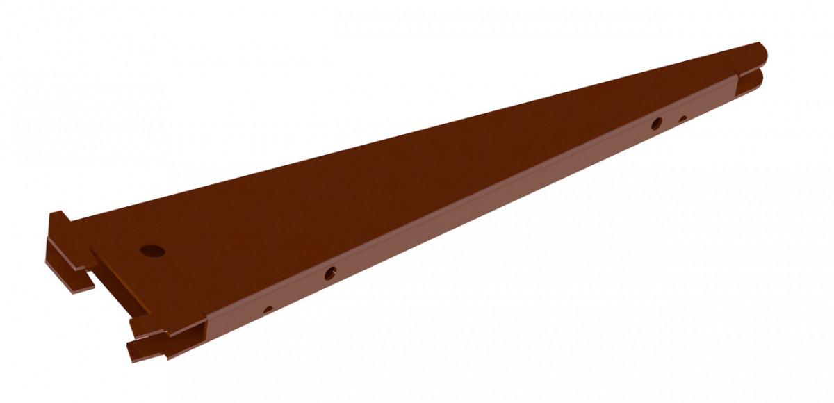 Подвійний Кронштейн Кольчуга (консольна система зберігання) 270 мм Коричневий