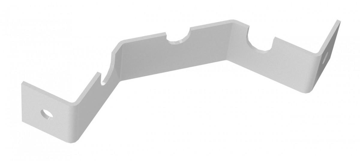 Кронштейн під кутову дротяну полицю 173*25мм підтримуючий Кольчуга (консольна система зберігання, білий)