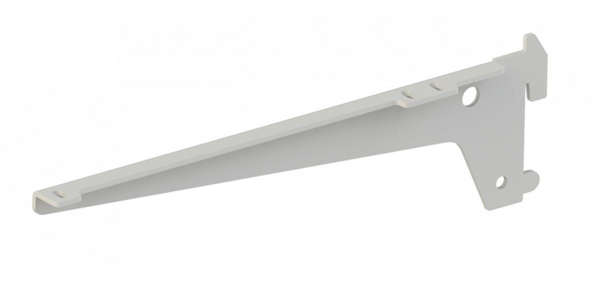 Комплект одинарних кронштейнів Кольчуга (консольна система зберігання) 220 мм Білий