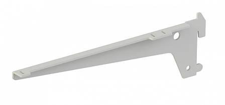 Комплект одинарних кронштейнів Кольчуга (консольна система зберігання) 220 мм Білий, фото 2