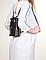 Женская черная кожаная сумка рюкзак Италия 21х22х7, фото 2