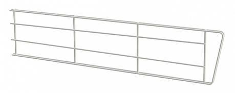 Перегородка дротяна 406*100мм Кольчуга (консольна система зберігання) білий, фото 2