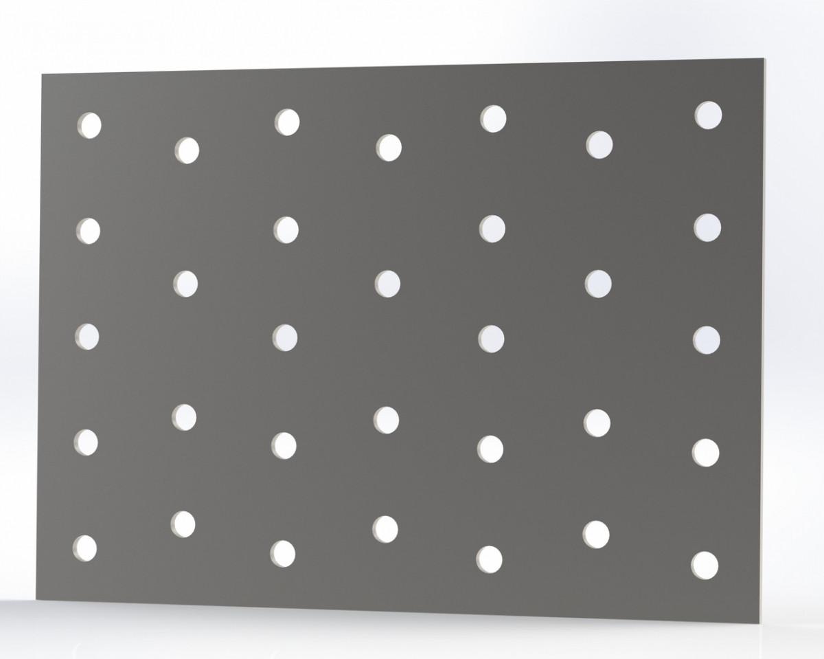 Монтажна пластина (кріпильна) перфорована 100х140х2. ТМ Кольчуга (Kolchuga)