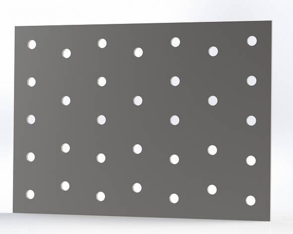Монтажна пластина (кріпильна) перфорована 100х140х2. ТМ Кольчуга (Kolchuga), фото 2