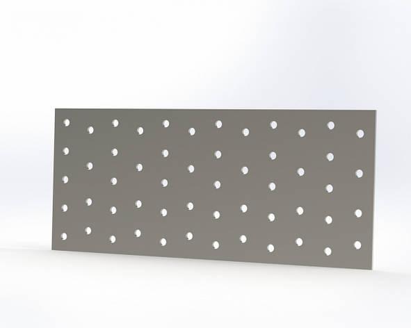 Монтажна пластина (кріпильна) перфорована 100х200х2. ТМ Кольчуга (Kolchuga), фото 2