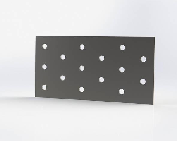 Монтажна пластина (кріпильна) перфорована 60х140х2. ТМ Кольчуга (Kolchuga), фото 2