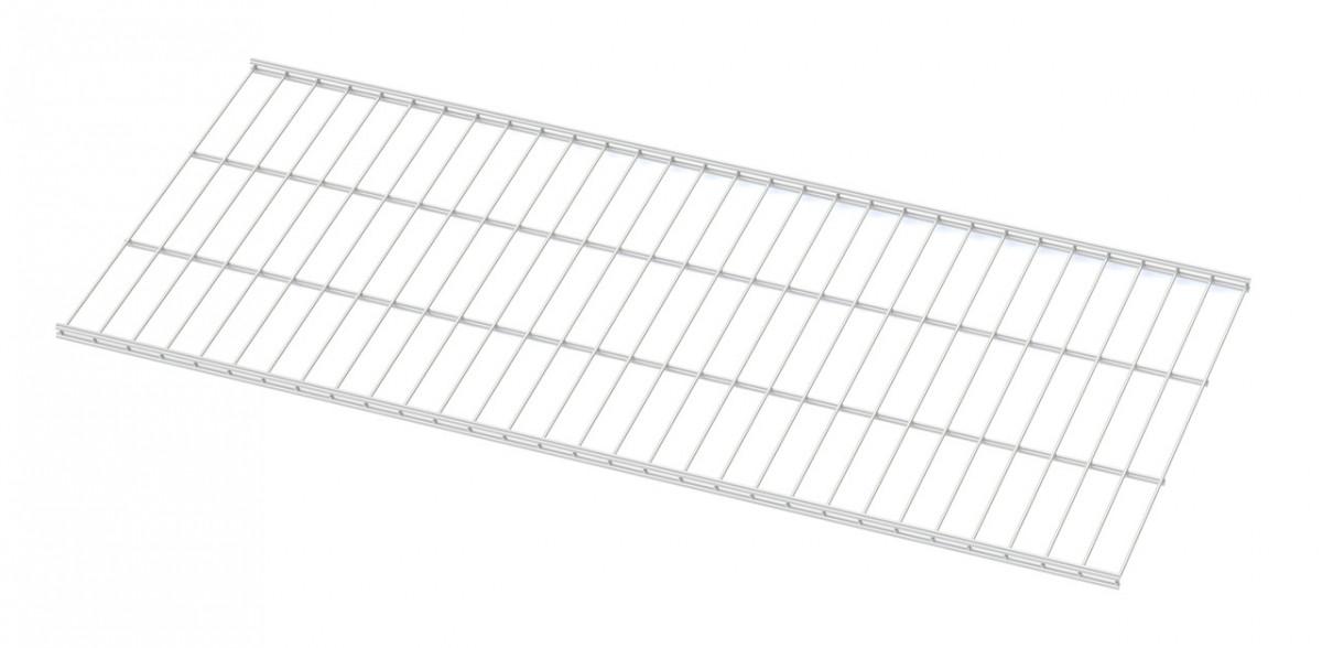 Полиця дротяна 1206*406мм Кольчуга (консольна система зберігання, білий)