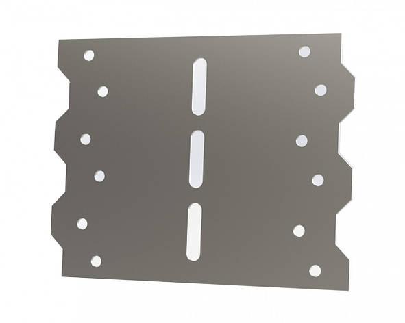 З'єднувальна перфорована пластина тип LS-30 (розмір 55х55х85х1,5 мм). ТМ Кольчуга (Kolchuga), фото 2