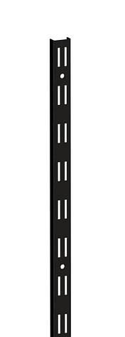 Стійка з подвійною перфорацією д.2000мм ш.25мм COLCHUGA HOME BLACK Edition (консольна система зберігання,, фото 2