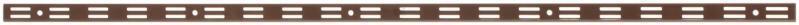 Стійка з подвійною перфорацією 2000мм ш.25мм Кольчуга (консольна система зберігання, коричневий)