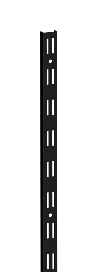Стійка з подвійною перфорацією д.1000мм ш. 25мм KOLCHUGA HOME BLACK Edition (консольна система зберігання )