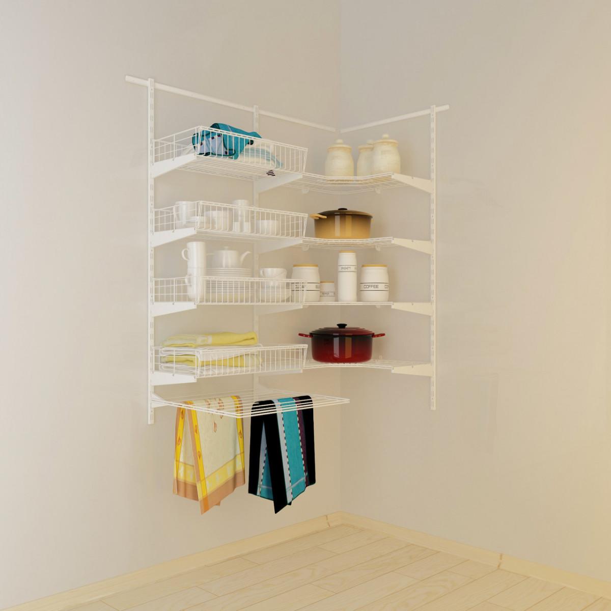 Кутова гардеробна система Кольчуга Система зберігання (консоль, стелаж)