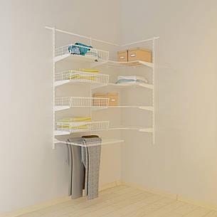 Кутова гардеробна система Кольчуга Система зберігання (консоль, стелаж), фото 2