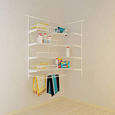 Кутова гардеробна система Кольчуга Система зберігання (консоль, стелаж), фото 3