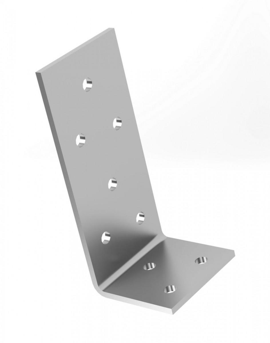 Куточок перфорований асиметричний , уголок монтажний з різними сторонами 60х35х60х2,5 мм. ТМ Кольчуга