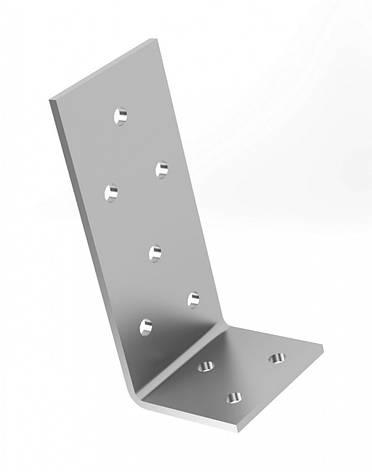 Куточок перфорований асиметричний , уголок монтажний з різними сторонами 60х35х60х2,5 мм. ТМ Кольчуга, фото 2