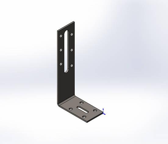 Куточок перфорований регульований ,уголок,кутник120x55x30x2.0. ТМ Кольчуга (Kolchuga), фото 2