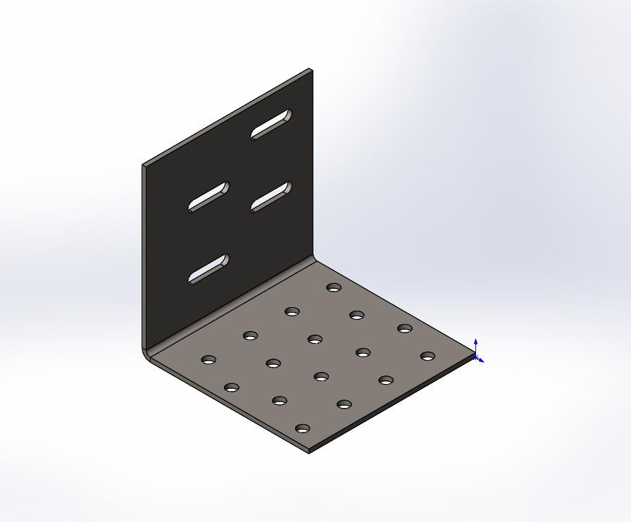 Куточок перфорований регульований 80x80x80x1.8. ТМ Кольчуга (Kolchuga)