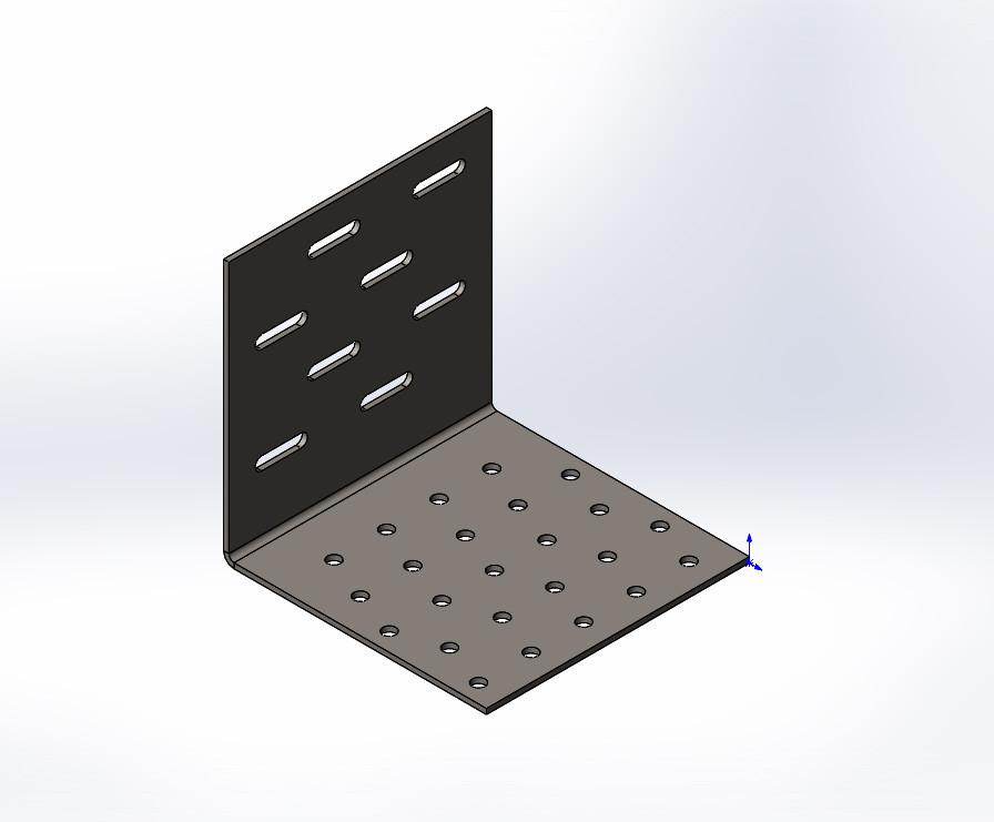 Куточок перфорований регульований посилений ,уголок ,кутник 100x100x100x2.0. ТМ Кольчуга (Kolchuga)