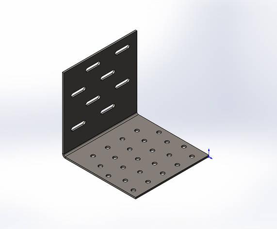 Куточок перфорований регульований посилений ,уголок ,кутник 100x100x100x2.0. ТМ Кольчуга (Kolchuga), фото 2