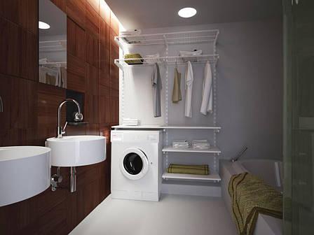 Кошик дротяний 606*306*100мм Кольчуга (консольна система зберігання, білий), фото 2