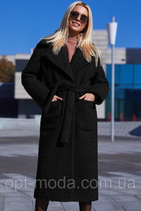 "Стильне модне жіноче пальто на запах букле ""Берлін"""