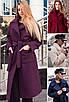 "Стильне модне жіноче пальто на запах букле ""Берлін"", фото 3"