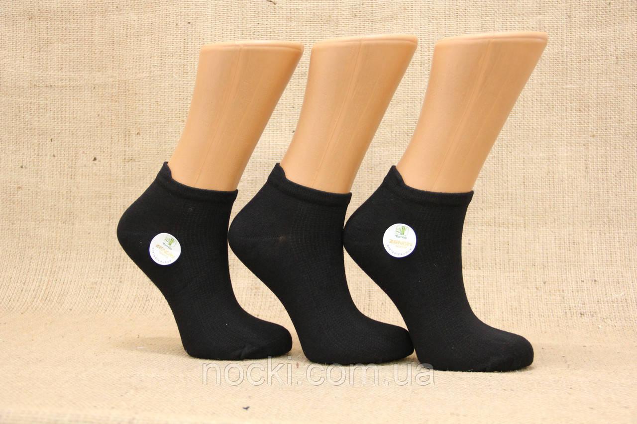 Женские носки короткие с бамбука в сеточку ZG 36-40 черный
