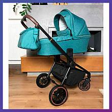 Детская универсальная коляска 3в1 с автокреслом CARRELLO Epica CRL-8511/1 зеленая с черной рамой + дождевик