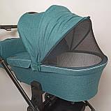 Детская универсальная коляска 3в1 с автокреслом CARRELLO Epica CRL-8511/1 зеленая с черной рамой + дождевик, фото 9