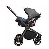 Детская универсальная коляска 3в1 с автокреслом CARRELLO Epica CRL-8511/1 темно-серая с черной рамой +дождевик, фото 3