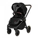 Детская универсальная коляска 3в1 с автокреслом CARRELLO Epica CRL-8511/1 черная с черной рамой + дождевик, фото 2