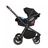 Детская универсальная коляска 3в1 с автокреслом CARRELLO Epica CRL-8511/1 черная с черной рамой + дождевик, фото 3